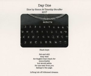 Day One Original Poetry and Photography Zine by Simon and Tim Stouffer
