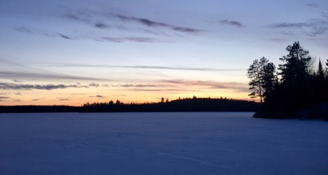 camping doesn't stop in the winter in the BWCAW