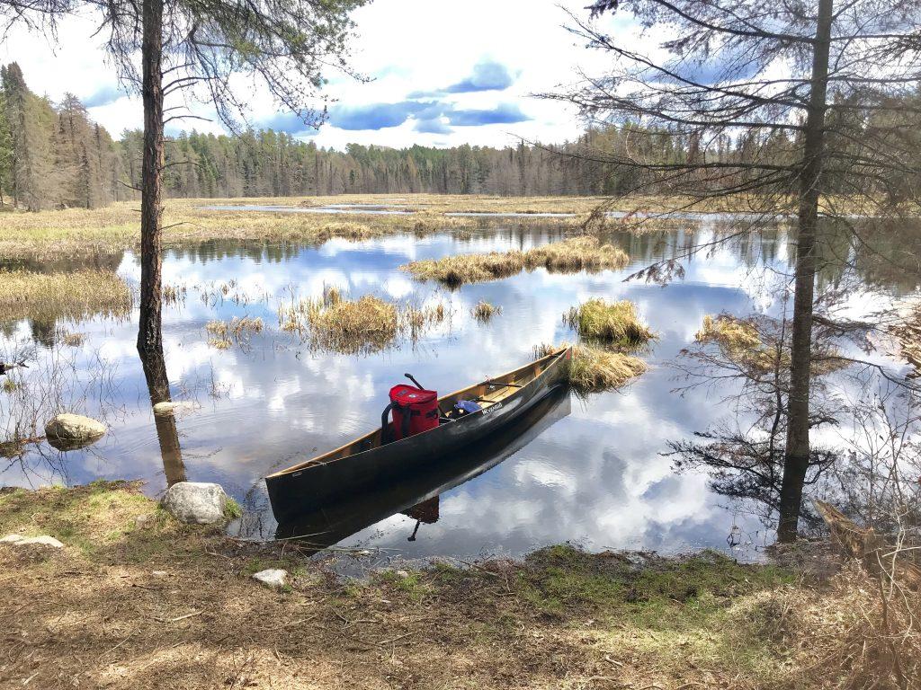 monday funday piragis paddle solo canoe waiting
